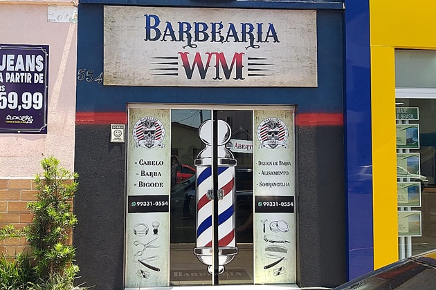 Barbearia é arrombada por criminosos durante a madrugada e TV de 40' é furtada