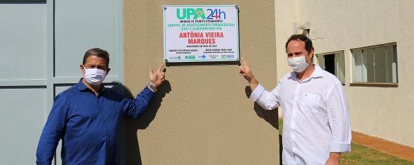 Em solenidade restrita, prefeito inaugura central de medicamentos na UPA