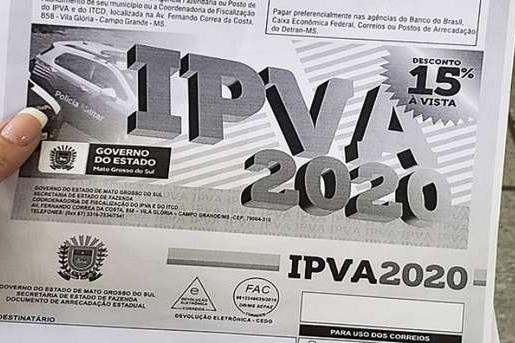 Contribuinte tem 15% de desconto pagando IPVA à vista até final de janeiro