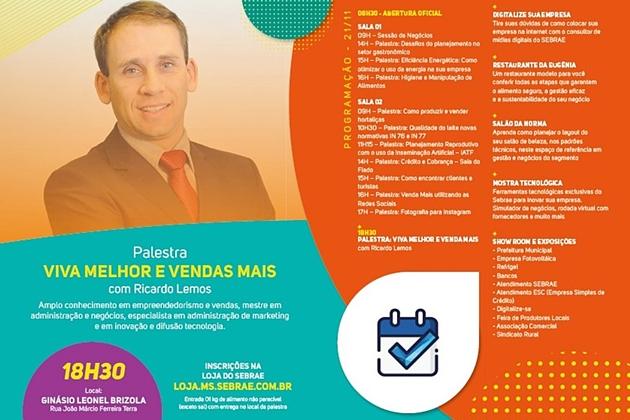 Sidrolândia recebe quinta-feira, dia de oportunidade do Programa Cidade Empreendedora