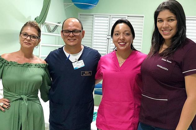 Enfermeiras fazem vivencia no Centro de Parto Normal do Hospital Elmiria para levar modelo para Anastácio