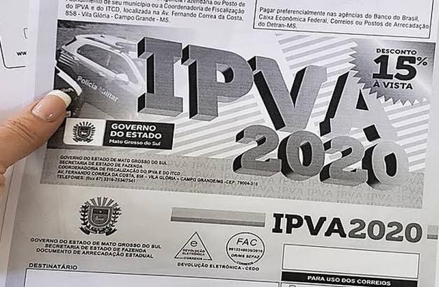 Quem perdeu prazo do IPVA 2020 pode fazer o pagamento pelo site