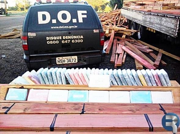 DOF apreende 800 quilos de cocaína em Ivinhema