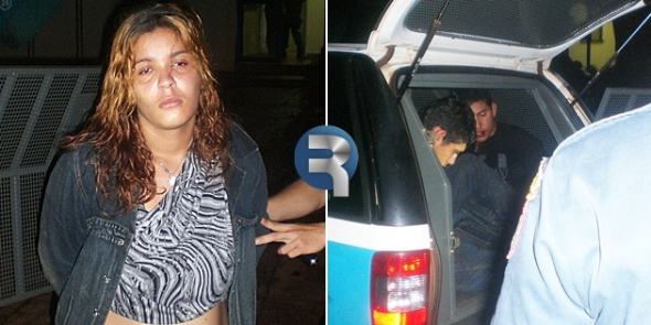Sequestradores mantêm reféns amarrados e são surpreendidos pela Policia Militar