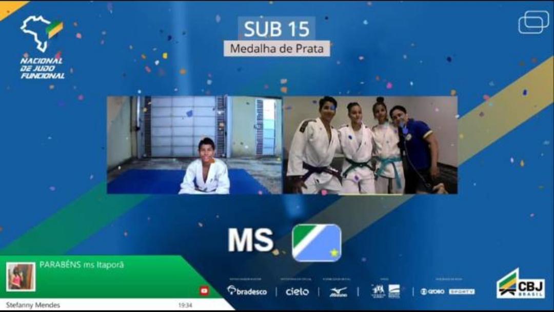 Mato Grosso do Sul conquista três medalhas em torneio nacional de judô on-line