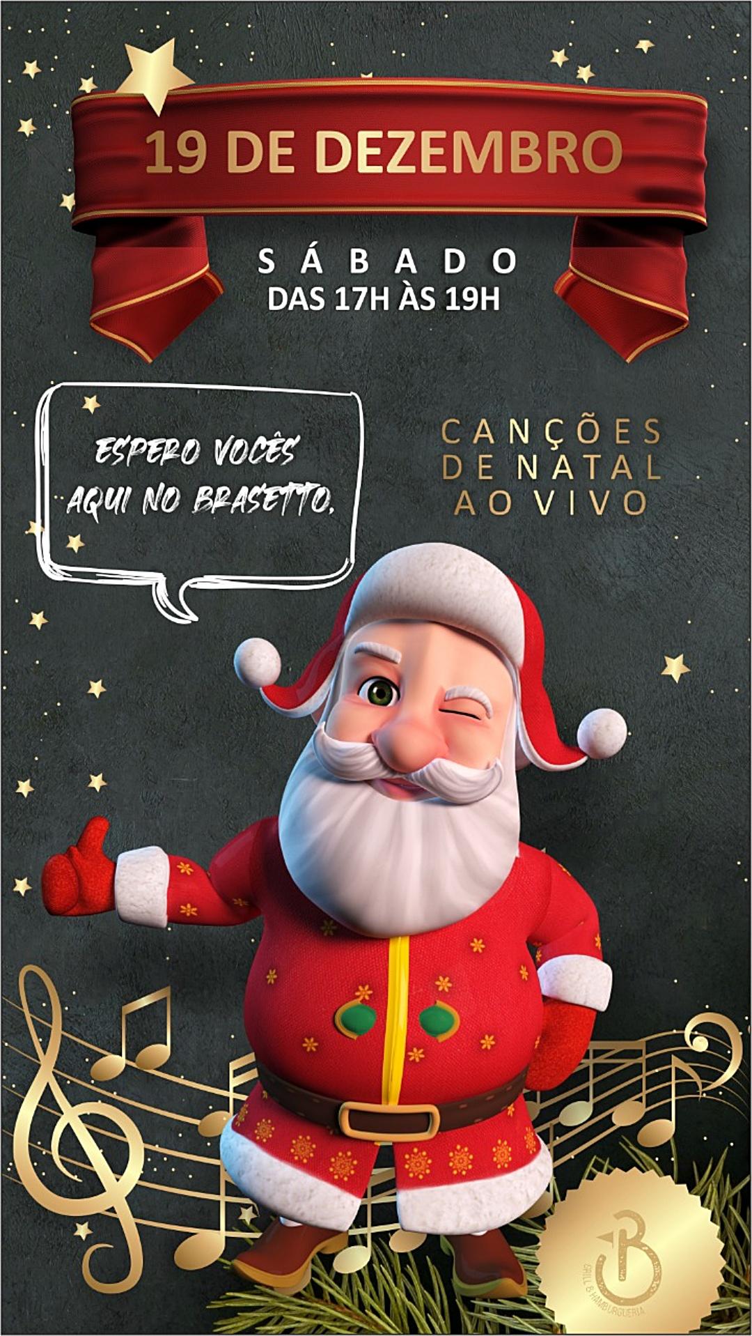 Brasetto Restaurante tem apresentações natalinas neste sábado