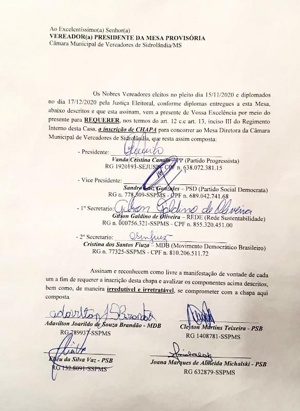 G-8 define chapa com Vanda Camilo de presidente e Sandro Gonzalez de vice