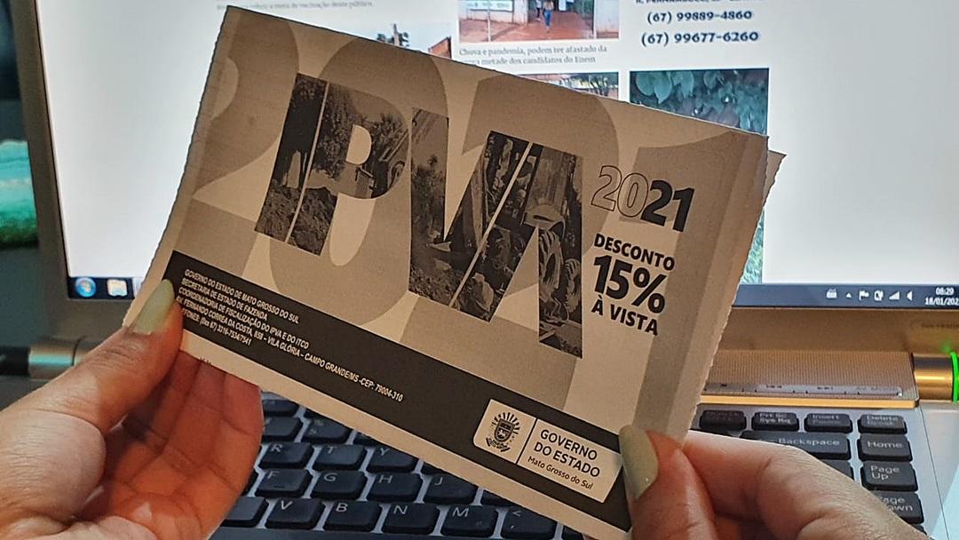 IPVA à vista, com 15% de desconto vence dia 29