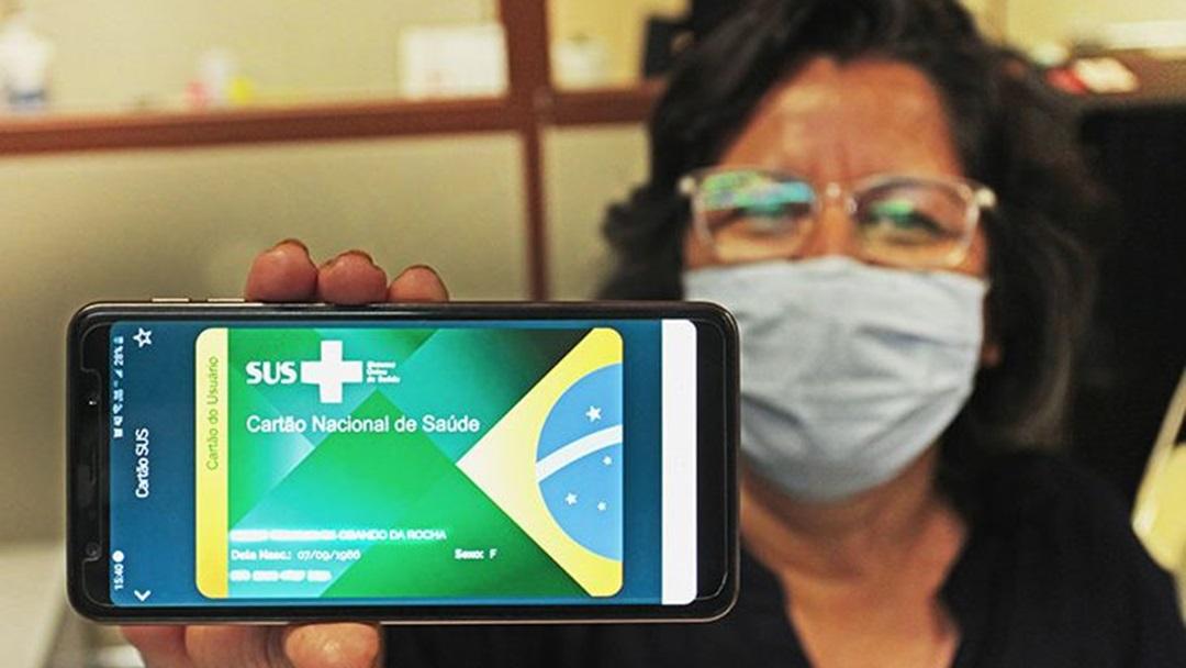 O aplicativo cidadão tem acesso a versão online do cartão SUS