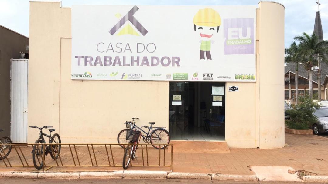 Sidrolândia: Casa do Trabalhador informa vagas disponíveis