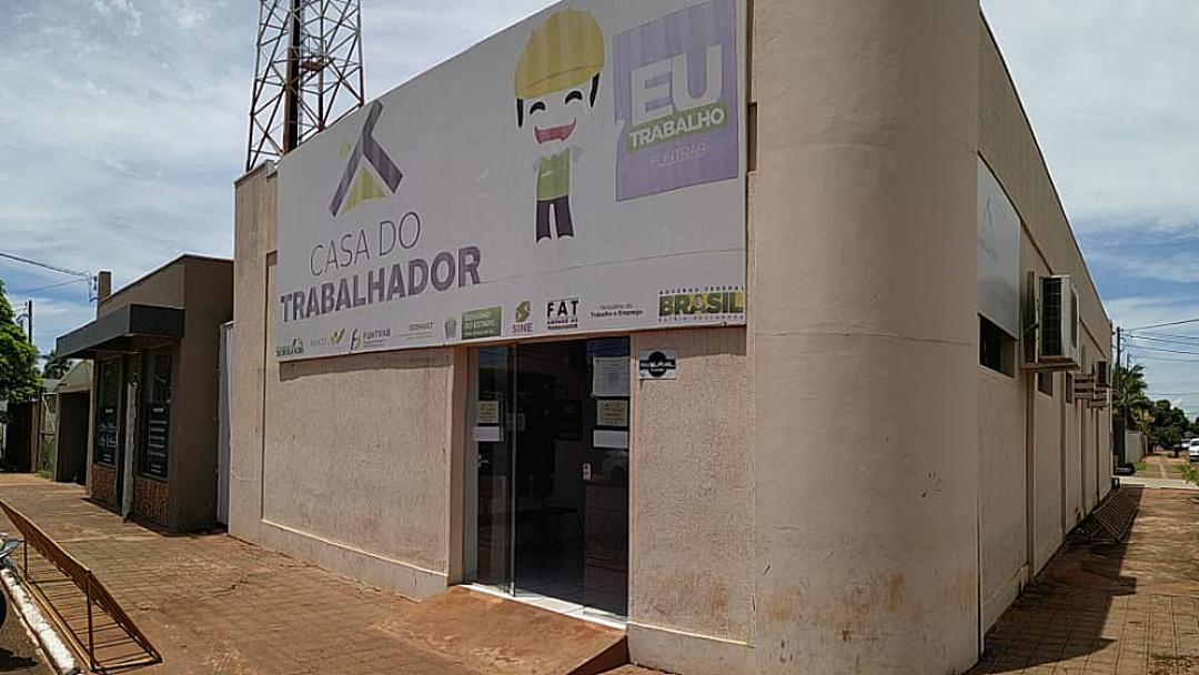 Novas vagas estão disponíveis na Casa do Trabalhador em Sidrolândia