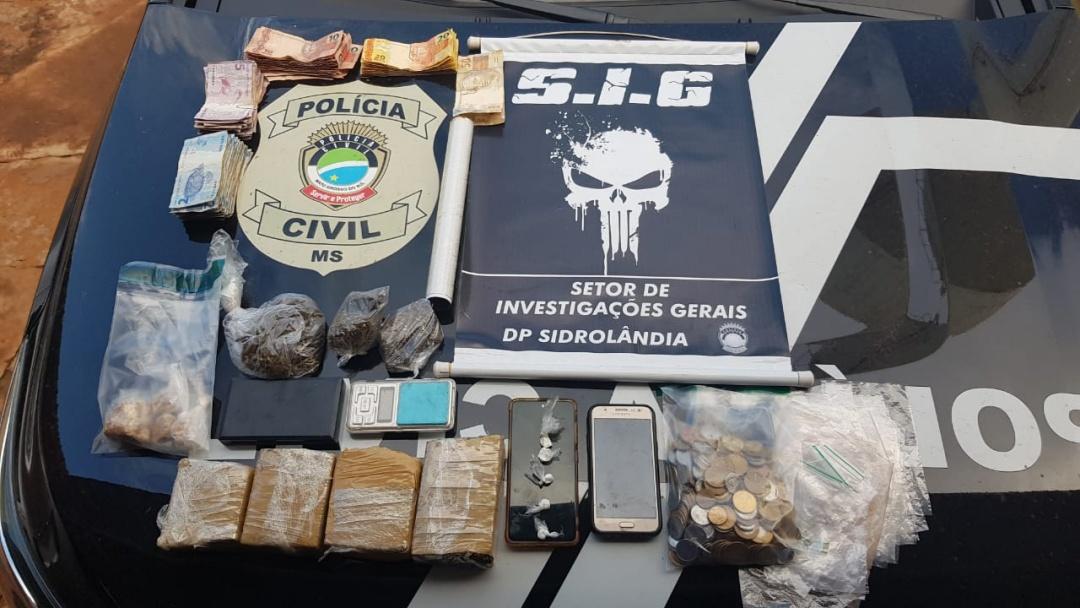 Polícia desarticula 'boca de fumo' que funcionava em mercearia no Sidrolar