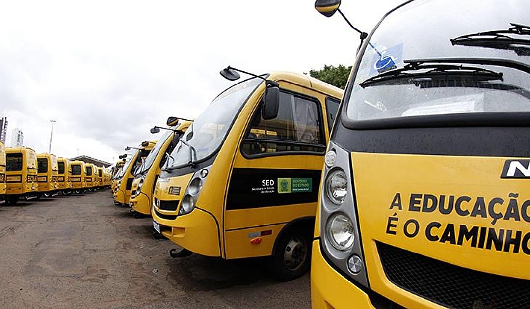 Governo entrega 168 ônibus escolares; Sidrolândia receberá dois veículos