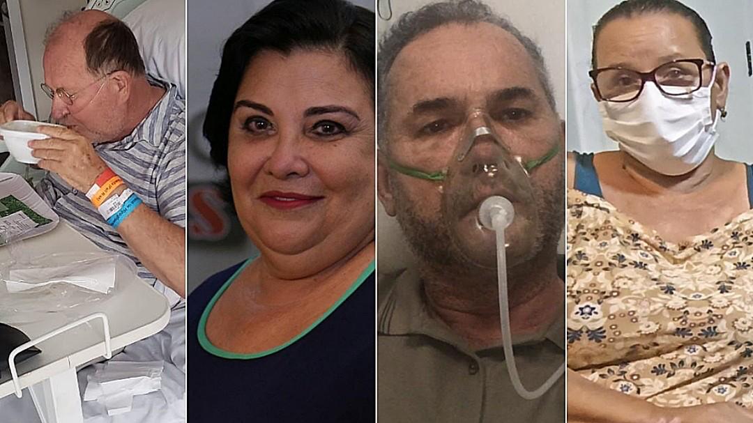 Enelvo e Rosi Fiuza evoluem a tratamento; Moacyr continua intubado e Juscinei Claro ganha alta