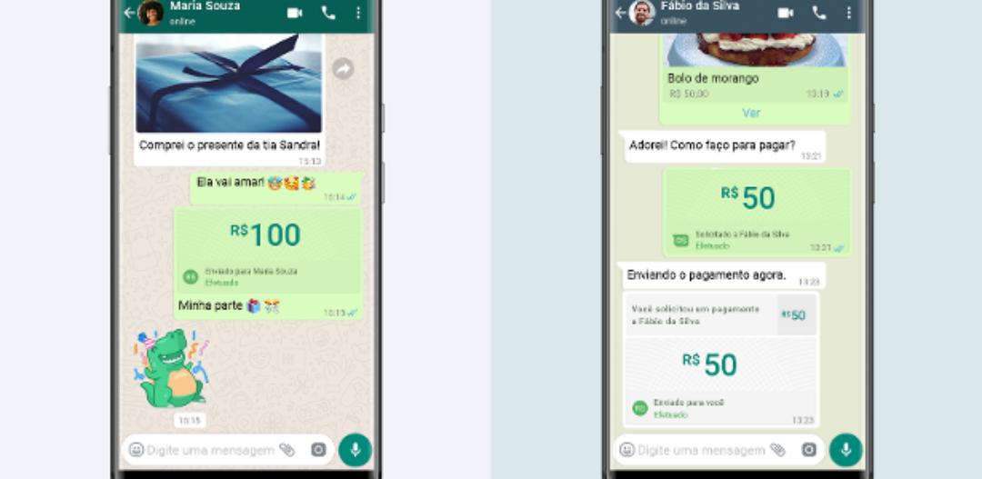 Transferência de dinheiro pelo WhatsApp começa a funcionar