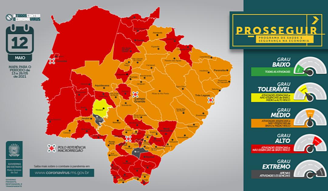 42 municípios mudam de bandeira e podem ter novo toque de recolher a partir de quinta