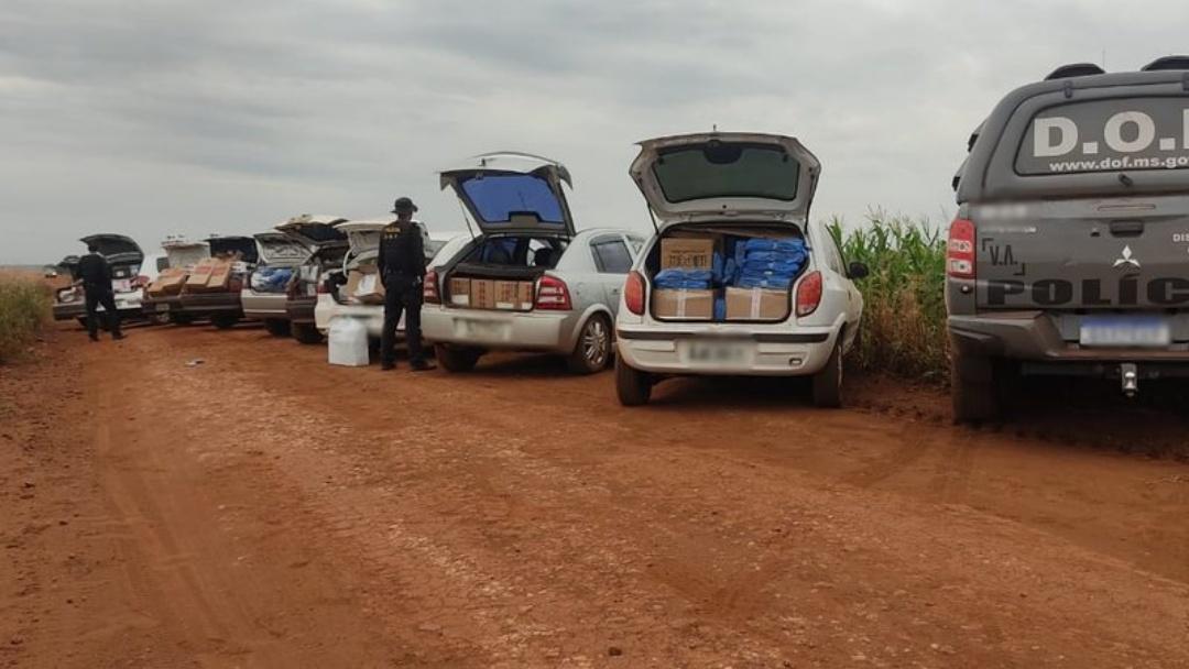 Operação flagra comboio levando celulares contrabandeados na fronteira