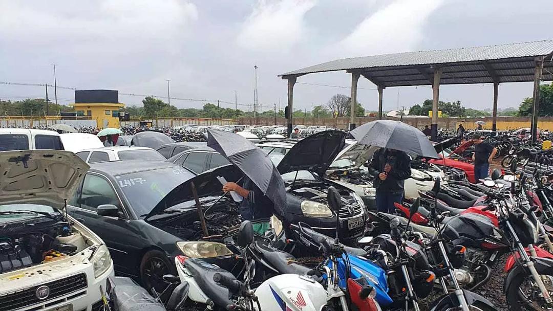 Detran irá abrir leilão com 65 lotes de veículos para sucata e circulação