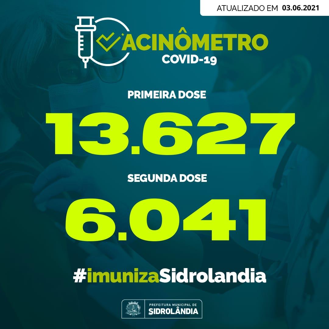 Sidrolândia começa a vacinar pessoas a partir de 45 anos contra a Covid-19