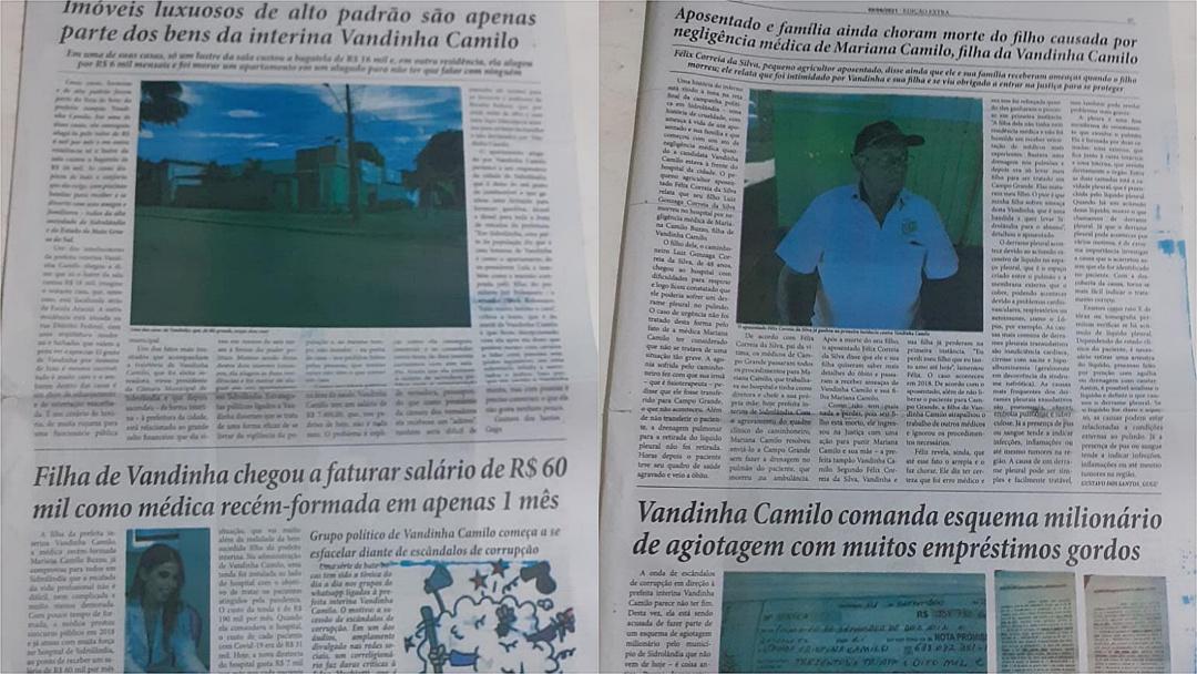 Justiça manda apreender jornal panfletário com Fake News contra Vanda