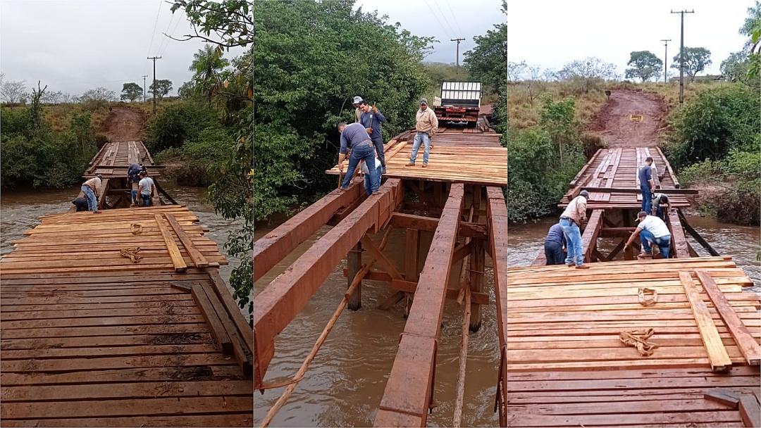 Prefeitura faz reparo emergencial para liberar tráfego em ponte de acesso ao Barra Nova