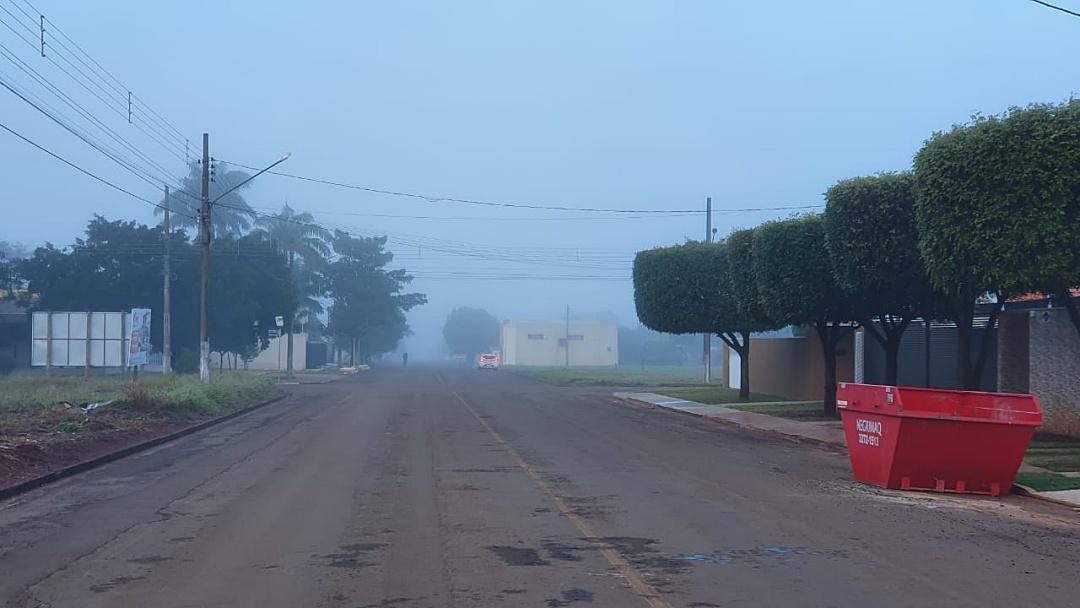 Sidrolândia amanhece com neblina neste sábado; confira previsão do tempo