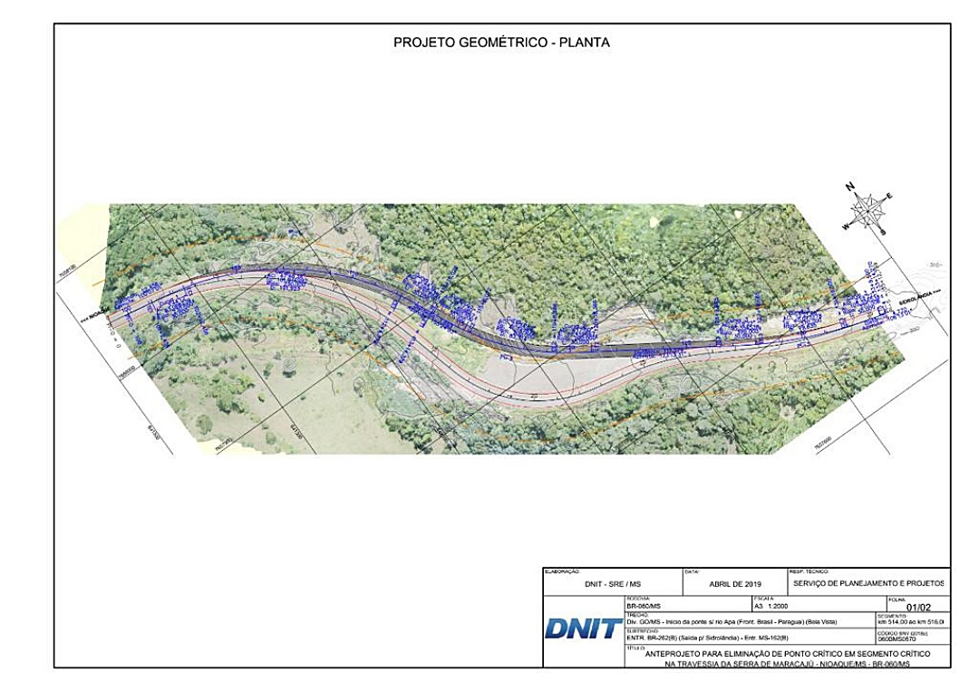 DNIT autoriza correção de trecho crítico da BR-060 entre Nioaque e Sidrolândia