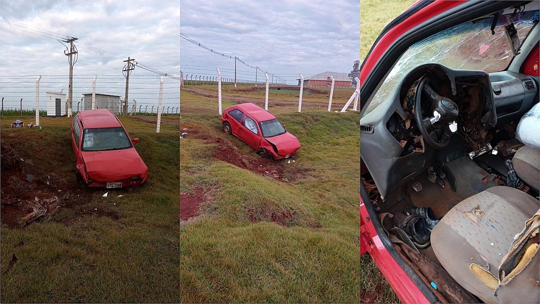 Homem perde o controle do veículo, sai da pista e fratura a perna na MS-162