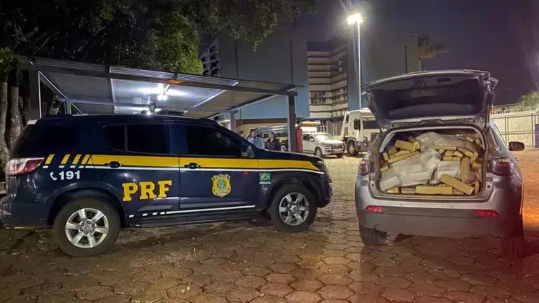 Traficante abandona Jeep com 861 kg de maconha e batedores são presos