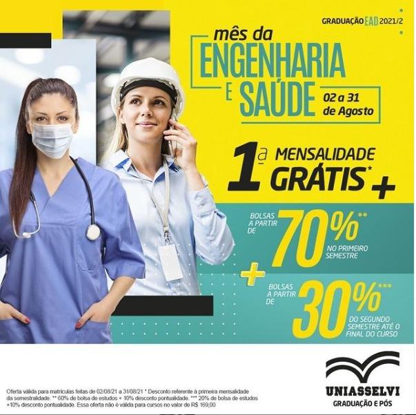 UNIASSELVI EAD: Bolsas a partir de 70% de desconto no primeiro semestre