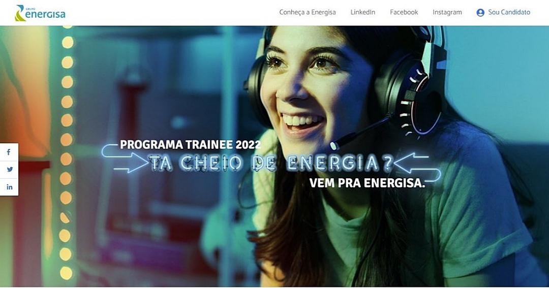 Termina nesta quinta prazo de inscrição para programa de trainee da Energisa