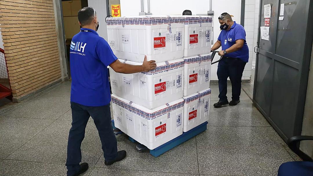 Ministério da Saúde encaminha 106,8 mil doses de Coronavac para MS