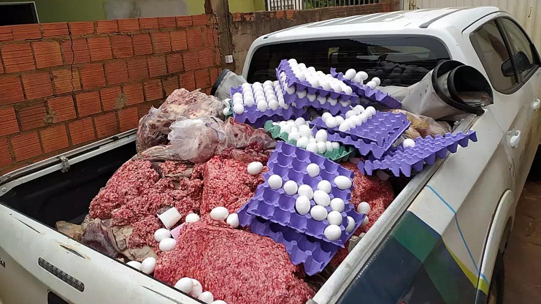 Fiscalização apreende 800 Kg de carnes e ovos 'podres' em Sidrolândia
